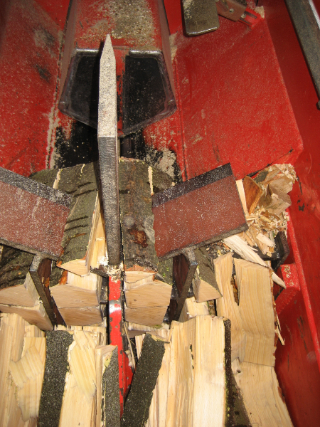Lindrick Logs being split